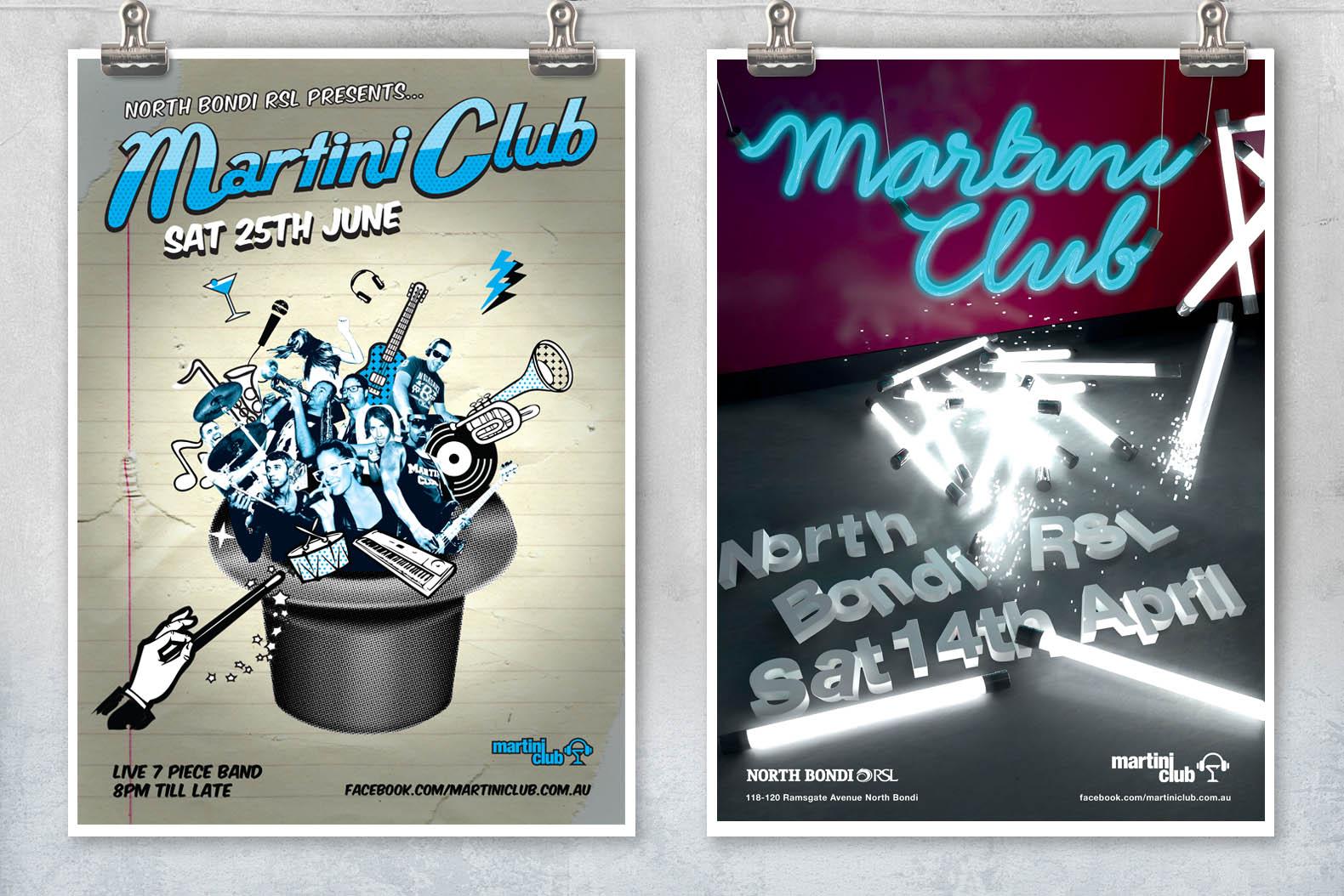 Martini Club Bondi posters
