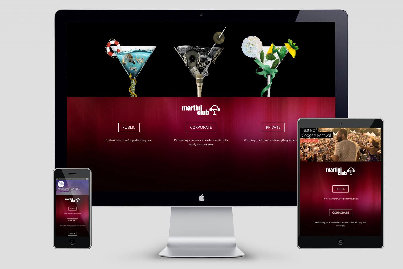 Martini Club website