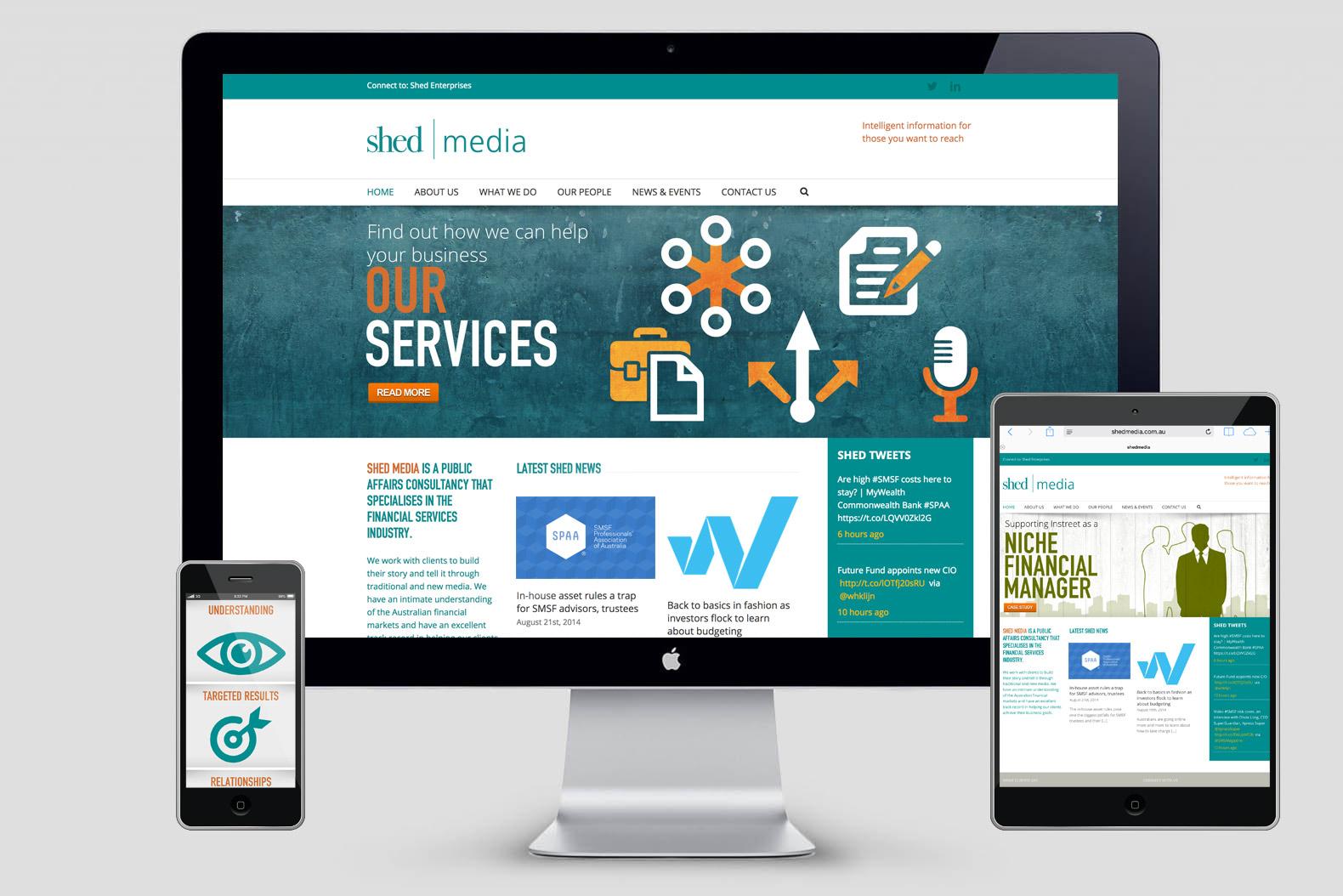 Shed Media website